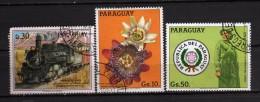 Paraguay °- 1983/86 -  Yvert. 2055A-2055C + 1986 -  PA.1018 Locomotives.    Vedi Descrizione - Paraguay