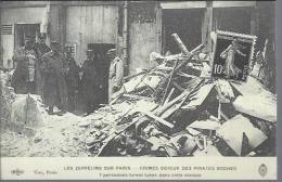 Reproduction De Carte Ancienne : Les Zeppelins Sur Paris - Postcards