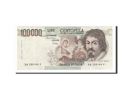 Italie, 100 000 Lire Type Caravaggio - [ 2] 1946-… : Repubblica