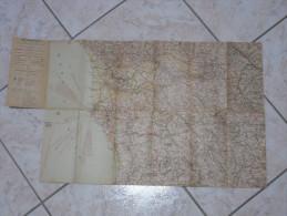 CARTA D'ITALIA SISTEMA A CHIAVE BREVETTATO BECHEREL-MARIENI TOSCANA PRIMI 900 - Cartes Routières