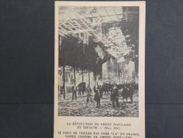 ESPAGNE - Puente De Vallecas - Révolution Du Front Populaire En 1936 - Rare Cp - A Voir  - P13618 - Autres