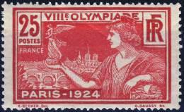 184  JO De PARIS NEUF** Lléger Pli Au Verso    ANNEE 1924 - France