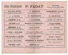 BUVARD P. FADAT USINES METALLURGIQUES INDUSTRIE BRIVE-LA-GAILLARDE CORREZE - Blotters