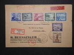 ALLEMAGNE - Enveloppe En Recommandée Et Exprés De Strasbourg Pour Paris En 1944 - A Voir - Lot  P13623 - Germany