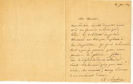 """BARBIER (Auguste), Poète, Auteur Des """"Iambes"""", Membre De L'Académie Française (1805-1882). Lettre Autographe Signée, Une - Autographes"""