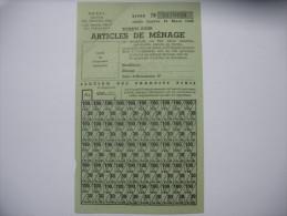 Rationnement Carte De Tickets Pour Articles De Menage - Historische Dokumente