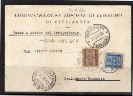 Giulianova Spiaggia Segantasse Postage Due 1940! (i635) - 1900-44 Vittorio Emanuele III