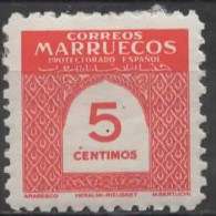 SPANISH MOROCCO 1953 Numeral -5c. - Red MH SOME PAPER ATTACHED - Marruecos Español