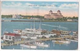 USA CP YACHT BASIN PALM BEACH FLORIDA POSTCARD 1947 - Palm Beach