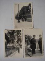 Photo. 27. Trois  Photos Originales  De La Police Et D'un Soldat Anglais - Lieux