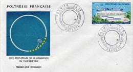 French Polynesia Stamp On FDC - FDC