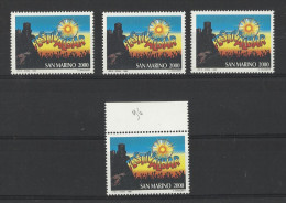 1996 San Marino Saint Marin FESTIVALBAR 4 Serie MNH** - Musica