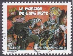 Oblitération Moderne Sur Autoadhésif De France N°  579 - Fêtes Et Traditions - Le Mariage De L´ami Fritz - France