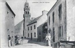 FINISTERE CPA LANDEDA RUE DE L'EGLISE - France