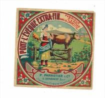 ETIQUETTE FROMAGE   PONT L'EVEQUE FABRIQUE DANS LA SARTHE - PANNETIER DEMAREST CLERMONT CREANS - - Cheese