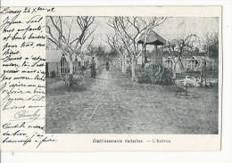 CPA 78 MANTES LA VILLE ETABLISSEMENTS VOITELLIER L'ENTREE ELEVAGE POULES PUB 1902 - Mantes La Ville
