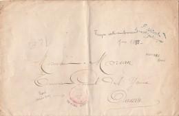 """1883 LETTRE. ROUGE PARIS-CONTRE-SEING. BLEU GRIFFE """"PRÉSIDENT DE LA RÉPUBLIQUE"""" / 6628 - Marcophilie (Lettres)"""