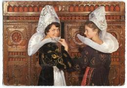 La Bretagne - Coiffes Et Costumes D'Elliant Et Des Environs - écrite Et Timbrée - 2 Scans - Elliant