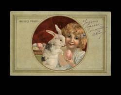 PAQUES - Joyeuses Pâques - Enfant - Lapin - Pâques