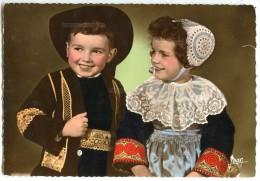 La Bretagne - Costumes De QUIMPER (Finistère) - écrite Et Timbrée - 2 Scans - France