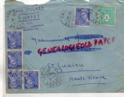 63 - AMBERT - ENVELOPPE LOUIS VILLARD -35 BD HENRI IV-1945 - 1900 – 1949