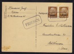 FRIESEN - ALSACE - HAUT RHIN / GUMMISTEMPEL - PROVISOIRE SUR LETTRE (ref GS44) - Alsace-Lorraine