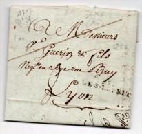 1797 - LETTRE De PONT SAINT ESPRIT (GARD) Avec MP 36x7 - 1701-1800: Precursors XVIII