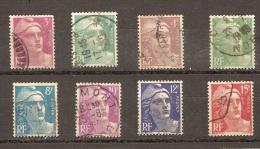 France - Marianne De Gandon - 806 à 813 - Série Complete De 8 Timbres - 1945-54 Marianne De Gandon