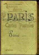 CLASSEUR ALBUM DEPLIANT POUR CARTES POSTALES ANCIENNES  DEBUT XX°  MARQUE PARIS  -  100 CARTES - Supplies And Equipment