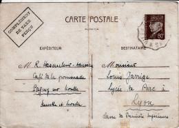 Carte Préaffanchie Pétain 1er-06-1942 De HASENCLEVER à Louis JARRIGE 1ère Supérieure à Lyon - -18e De La Collection - 1939-45