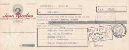 Lettre Change 2/4/1963 JEAN NICOLAS Conserves Alimentaires ROSPORDEN Côtes D´Armor Pour Maiche Doubs - Lettres De Change