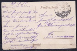 Germany1915;WW I Military Funeral Card Sent With Military(Feldpost)mail - 1. Weltkrieg