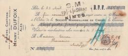 Lettre Change 25/4/1932 Henry DUFOIX Papiers Cartons ALES Gard Pour Anduze - Lettres De Change