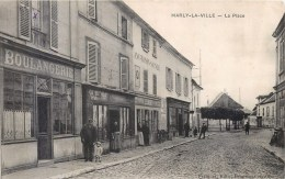 MARLY-LA-VILLE LA PLACE  BOULANGERIE COMMERCE 95 - Marly La Ville