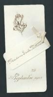 Menu Lithographié Doré. Beau Monogramme. Nom De L´invitée Fixé Avec Un Ruban. 1902.  Impr. Giele, Louvain. 2 Scans. - Menus