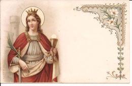 St. BARBARA  STEMPEL CACHETÉE JUMET 1908 Re122 - Saints