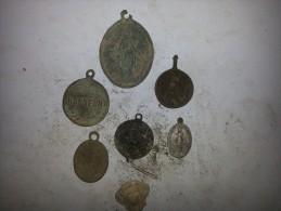 Lots De Médaille Catholique - Archeologie