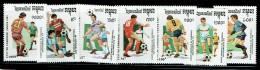 CAMBODGE 1991, Yvert 988/94, FOOTBALL SAN FRANCISCO 94, 7 Valeurs, Neufs / Mint. R1081 - World Cup