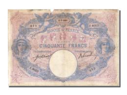 50 Francs Bleu Et Rose Type 1889 - 1871-1952 Antichi Franchi Circolanti Nel XX Secolo