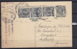 ITALY 1924, POSTAL CARD SENT TO LUDWIGSLUST, GERMANY, 18. 10. 1924, TRIEST, ZENCHOVICH, See Scans - Ganzsachen