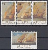 Alderney MiNr. 55/58 ** 300. Jahrestag Der Seeschlacht Von La Hogue - Alderney