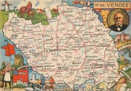 VENDEE PLAN ILLUSTRE G. CLEMENCEAU LA ROCHE SUR YON SABLES D'OLONNE FONTENAY LE COMTE MONTAIGU PALLUAU - Unclassified