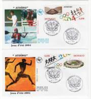 FDC - MONACO - 2004 - N° 2439/40 - J.O  ATHENES - FDC