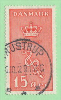"""DEN SC #B4  1929 Crown And Staff Of Aesculapius """"10-?5-29"""", CV $12.00 (I) - 1913-47 (Christian X)"""