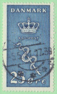 """DEN SC #B5  1929 Crown And Staff Of Aesculapius """"5-5-31"""", CV $40.00 (I) - 1913-47 (Christian X)"""