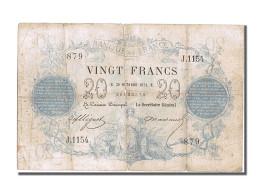 France, 20 Francs CHAZAL,1872, 1872-10-30, KM:55,... - ...-1889 Francos Ancianos Circulantes Durante XIXesimo