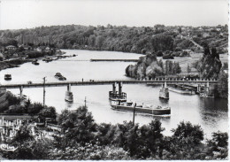 77 THOMERY - Pont De Thomery, Champagne Sur Seine, L'écluse (péniches) - Autres Communes