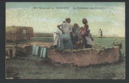 CPA - Afrique - Souvenir De DJIBOUTI - La Fonatine Des Somalis    // - Djibouti