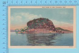 USA Vermont  ( Rock Dunder On Lake Champlain)  CPSM Linen Post Card 2 Scans - Etats-Unis