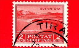 ITALIA - ALBANIA - Usato - Occupazioni - 1930 - Lago Di Butrinto - Adesione Di Re Zog I - 2 - Albania